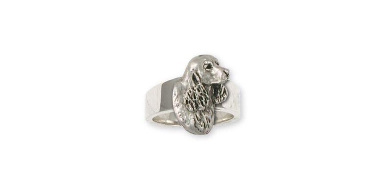 Springer Spaniel Ring Jewelry Sterling Silver Handmade Dog Ring SS6-R