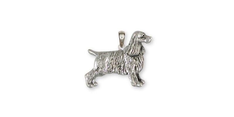 Springer Spaniel Pendant Jewelry Sterling Silver Handmade Dog Pendant SS7-P