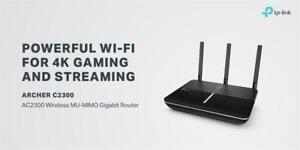 NEW TP-Link AC2300 Wireless WiFi Router, Powerful 1.8GHz Dual-Core Processor, 802.11ac Wave 2 MU-MIMO (Archer C2300) ...