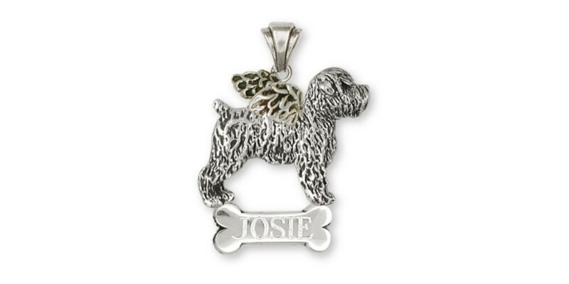 Soft Coated Wheaten Personalized Pendant Jewelry Sterling Silver Handmade Dog Pe