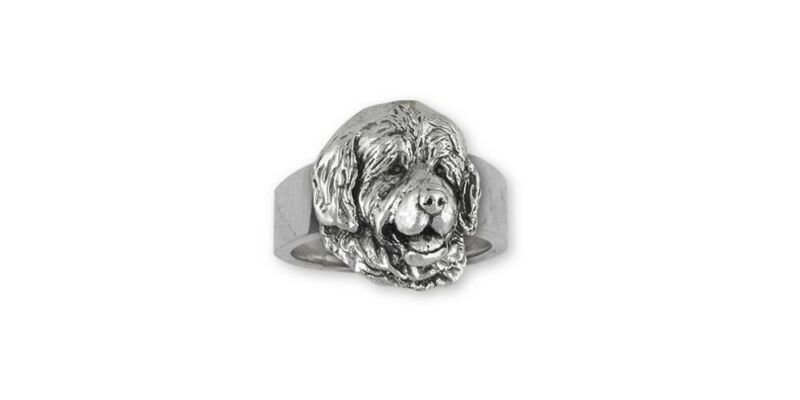 Newfoundland Ring Jewelry Sterling Silver Handmade Dog Ring NU3-R