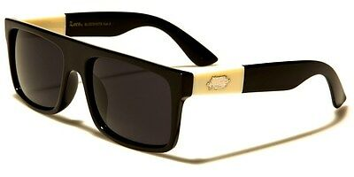 New Locs Flat Top Squared Black Frame Ivory Arms Men's Designer (Arms Mens Sunglasses)