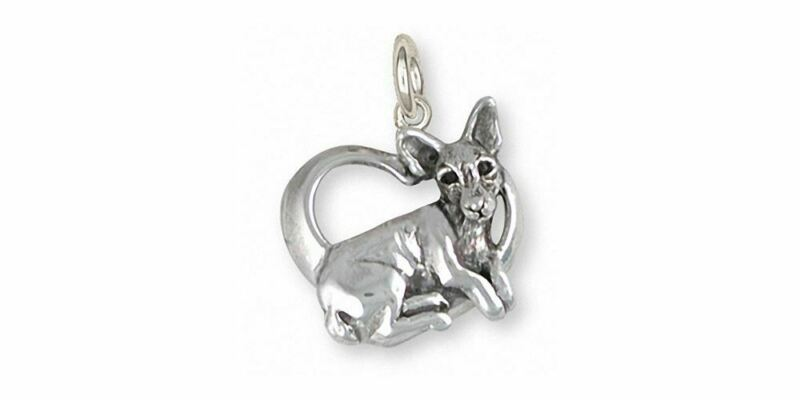 Rat Terrier Charm Jewelry Sterling Silver Handmade Dog Charm RTT1-C