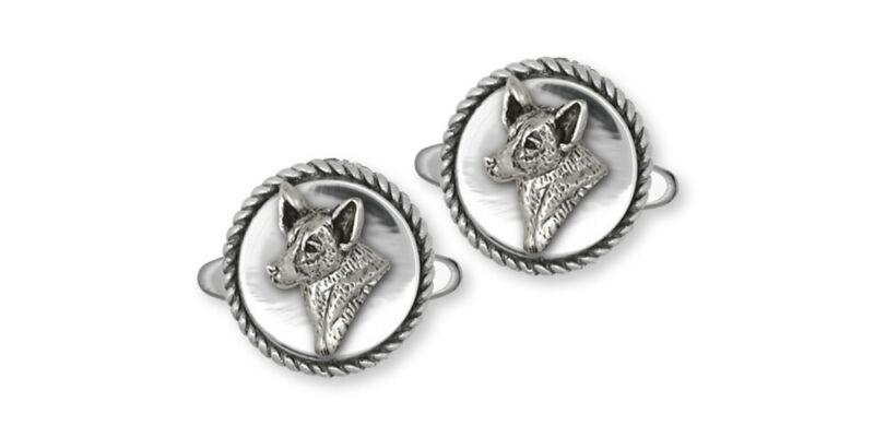 Australian Cattle Dog Cufflinks Jewelry Sterling Silver Handmade Dog Cufflinks A