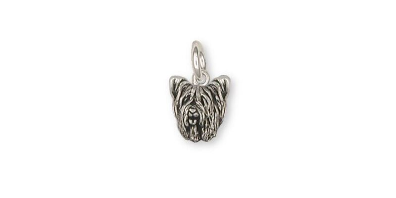 Skye Terrier Charm Jewelry Sterling Silver Handmade Dog Charm SKY1H-C