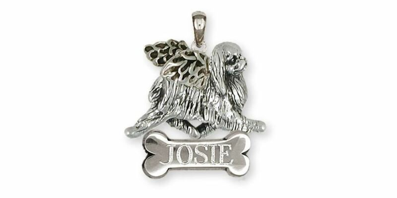 Japanese Chin Angel Pendant Jewelry Sterling Silver Handmade Chin Pendant JC10-A
