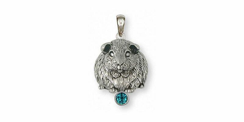 Guinea Pig Pendant Jewelry Sterling Silver Handmade Piggie Pendant GP1-SP