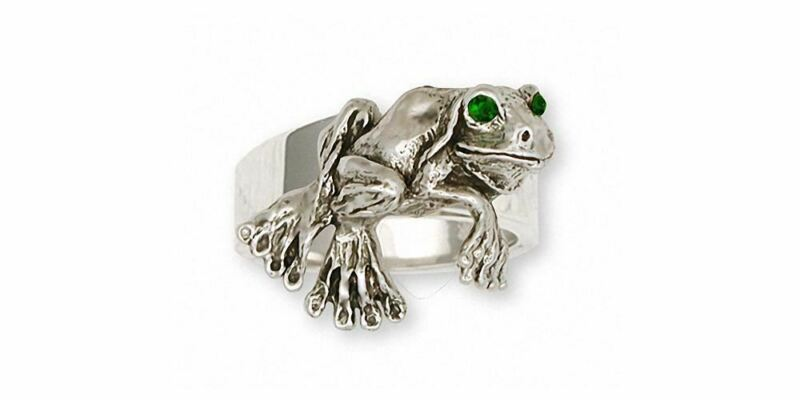 Frog  Ring Jewelry Sterling Silver Handmade Frog Ring FG3-R