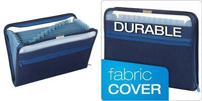 Pendaflex Fabric Poly Expanding File, 13 Pocket, Dark Blue, Each Blue covid 19 (Globe Weis Fabric coronavirus)
