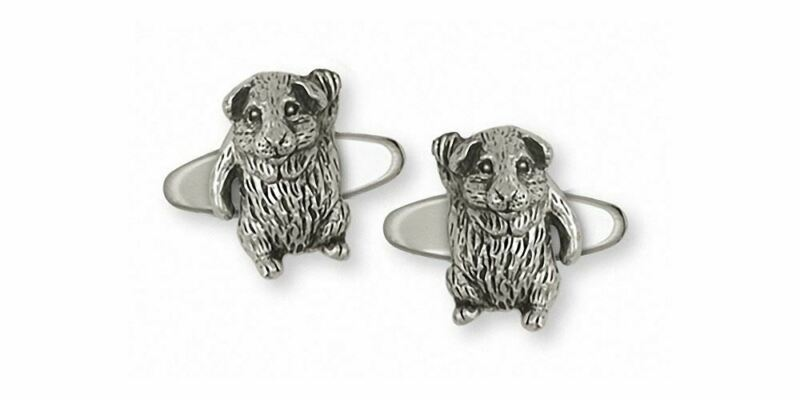 Guinea Pig Cufflinks Jewelry Sterling Silver Handmade Piggie Cufflinks GP3-CL