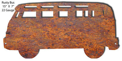 Rusty Bus Laser Cut Out 7x15