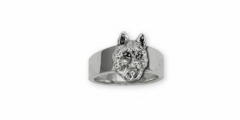 Siberian Husky Ring Jewelry Sterling Silver Handmade Dog Ring SB3-R