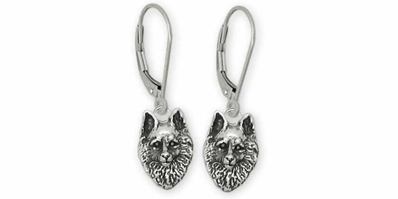 Schipperke Jewelry Sterling Silver Schipperke Earrings Handmade Dog Jewelry SC1-