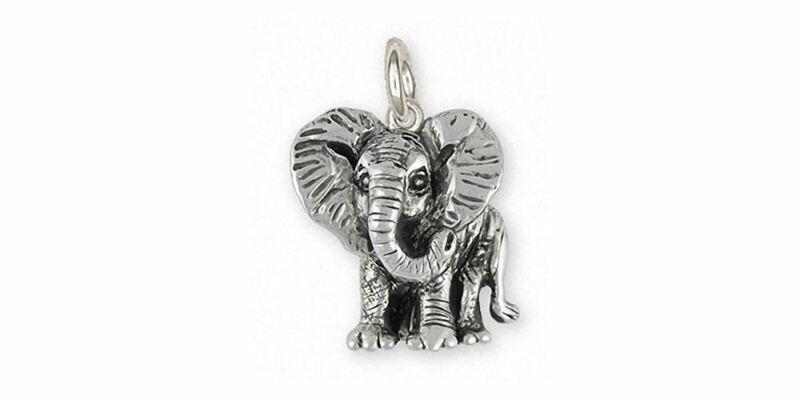 Elephant Jewelry Sterling Silver Elephant Charm Handmade Wildlife Jewelry EL7-C