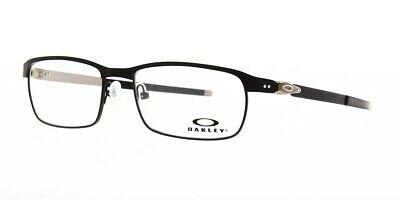 Oakley Tincup RX Prescription Eyeglasses Satin Blk Coal Demo lenses OX3184-0552