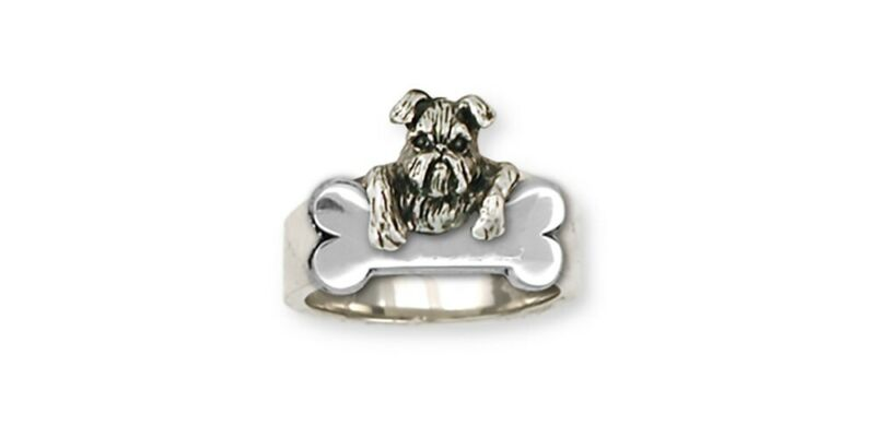 Brussels Griffon Ring Handmade Sterling Silver Dog Jewelry GR39-R2