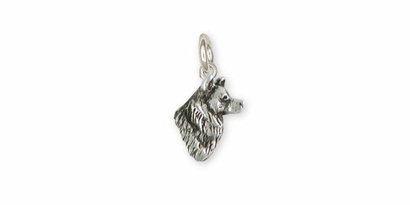 Alaskan Malamute Charm Jewelry Sterling Silver Handmade Dog Charm MAL2H-C