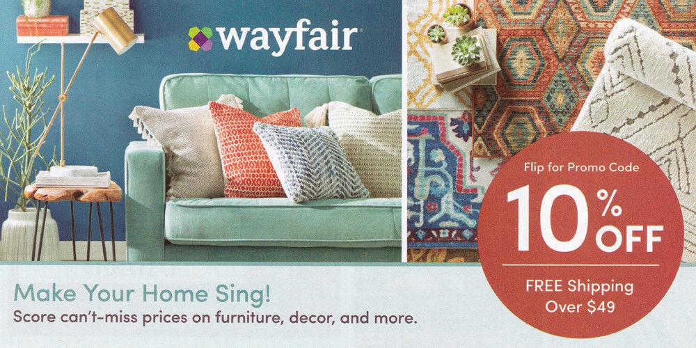 Купить Wayfair - wayfair.com 10% off entire order 1coupon - WAYFAIR - exp. 8-31-20 - Sent Fast