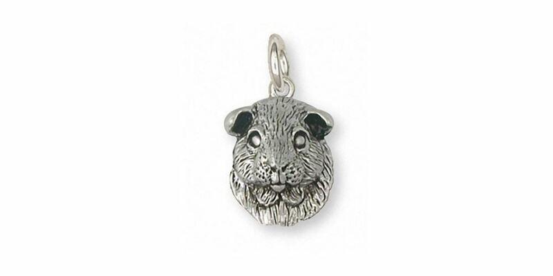 Guinea Pig Charm Jewelry Sterling Silver Handmade Piggie Charm GP2-C