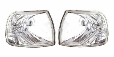 LH/RH 2pc Front Clear Indicator Lamp Light Pair for VW Transporter T4 (96-03)