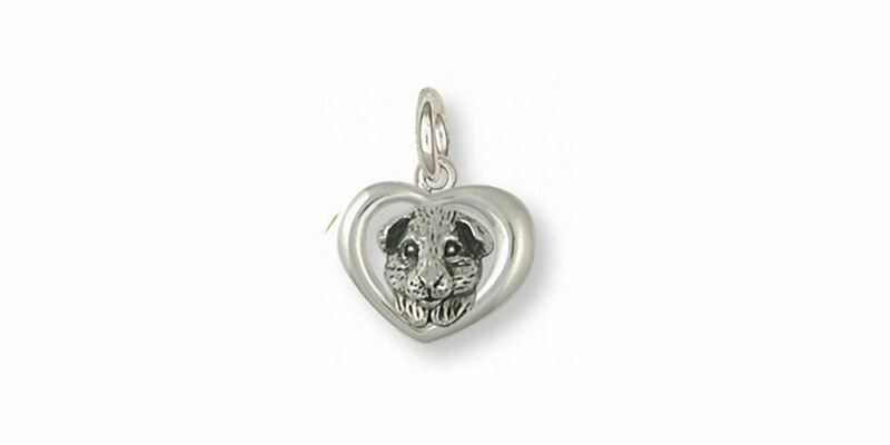 Guinea Pig Charm Jewelry Sterling Silver Handmade Piggie Charm GP4-C