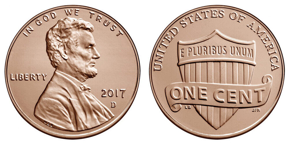 1 Roll 2017 P Penny Roll *** FREE SHIPPING!!! *** 50 Uncirculated Pennies