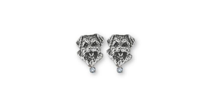 Norfolk Terrier Birthstone Earrings Jewelry Sterling Silver Norfolk Terrier Birt