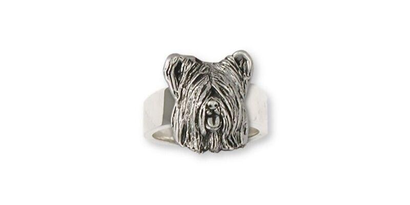 Skye Terrier Ring Jewelry Sterling Silver Handmade Dog Ring SKY4-R