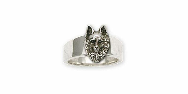 Schipperke Jewelry Sterling Silver Schipperke Ring Handmade Dog Jewelry SC1-R