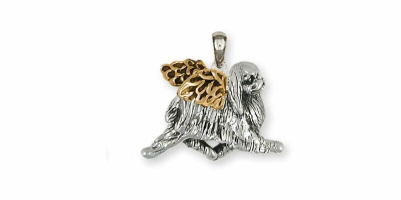 Japanese Chin Angel Pendant Jewelry Silver And 14k Gold Handmade Chin Pendant JC
