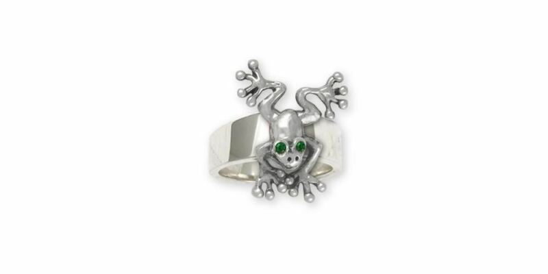 Frog Ring Jewelry Sterling Silver Handmade Frog Ring FG30-XR