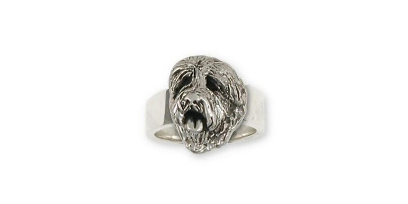 Soft Coated Wheaten Ring Jewelry Sterling Silver Handmade Dog Ring SCW9-R