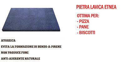 Piastra in pietra lavica dell'Etna per Pizza Forno Elettrico / Gas 39x35x2 cm