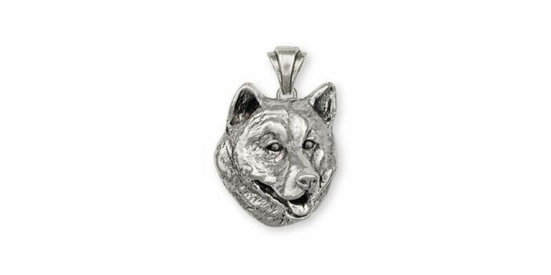 Alaskan Malamute Pendant Jewelry Sterling Silver Handmade Dog Pendant MAL1-P