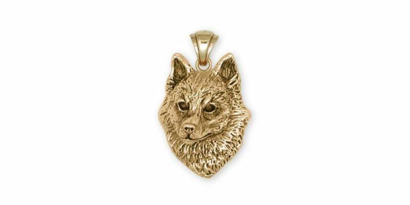 Schipperke Jewelry 14k Gold Schipperke Pendant Handmade Dog Jewelry SK-PG