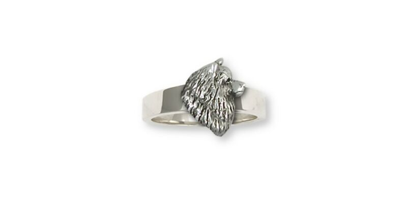 Keeshond Ring Jewelry Sterling Silver Keeshond Dog Ring KH1H-R