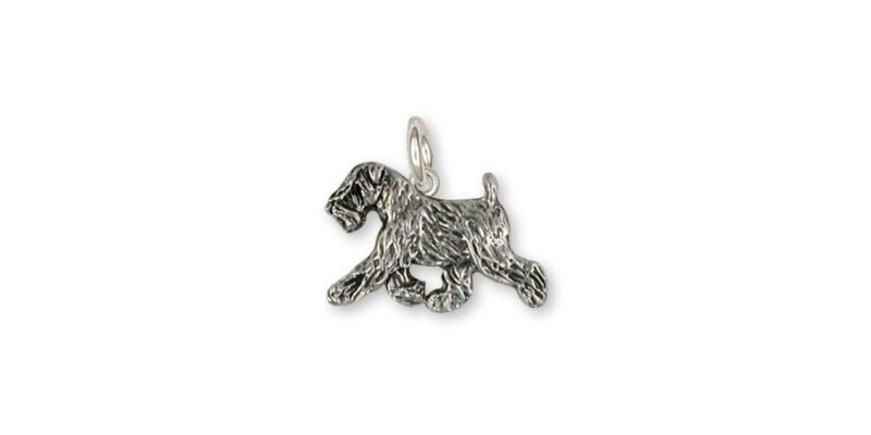 Soft Coated Wheaten Charm Jewelry Sterling Silver Handmade Dog Charm SCW10-C