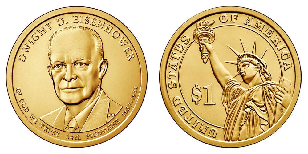 Dwight Eisenhower President Dollar Coin D Mint Uncirculated - $2.50