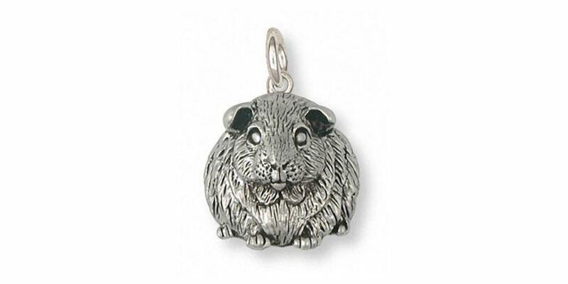 Guinea Pig Charm Jewelry Sterling Silver Handmade Piggie Charm GP1-C