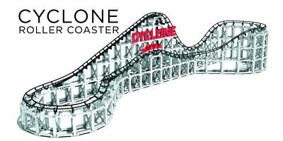 Roller Coaster Models (Cyclone Roller Coaster - Model Replica of the Classic Amusement Park Thrill)