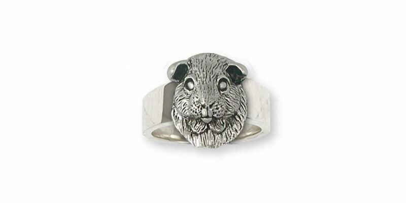 Guinea Pig Ring Jewelry Sterling Silver Handmade Piggie Ring GP2-R