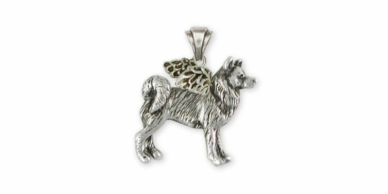 Alaskan Malamute Angel Pendant Jewelry Sterling Silver Handmade Dog Pendant MAL2