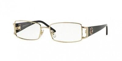 NEW Versace 1163M Eyeglasses 1252 Gold 100% AUTHENTIC