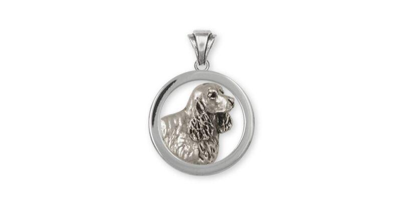 Springer Spaniel Pendant Jewelry Sterling Silver Handmade Dog Pendant SS5-P