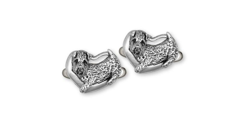 Soft Coated Wheaten Cufflinks Jewelry Sterling Silver Handmade Dog Cufflinks SC6