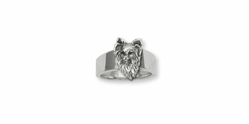 Papillon Ring Jewelry Sterling Silver Handmade Dog Ring PA9-R