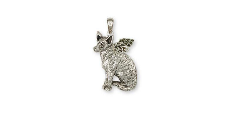 Australian Cattle Dog Angel Pendant Jewelry Sterling Silver Handmade Dog Pendant