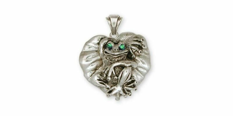 Frog Pendant Jewelry Sterling Silver Handmade Frog Pendant FG4-XP
