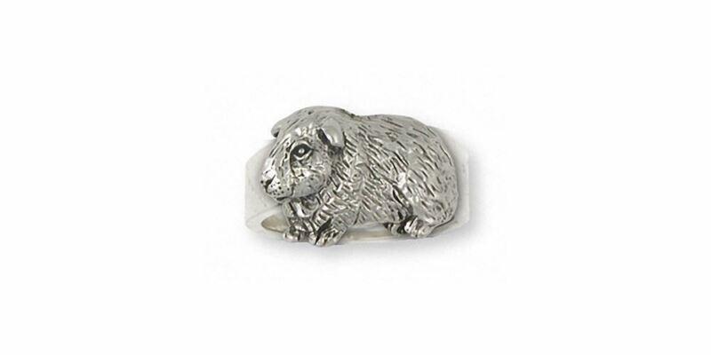 Guinea Pig Ring Jewelry Sterling Silver Handmade Piggie Ring GP7-R