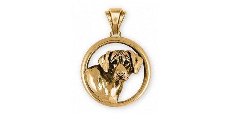 Rhodesian Ridgeback Pendant Jewelry 14k Gold Handmade Dog Pendant RDG3-PG